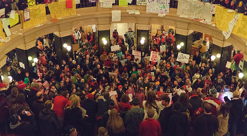 Wisconsin Union protests